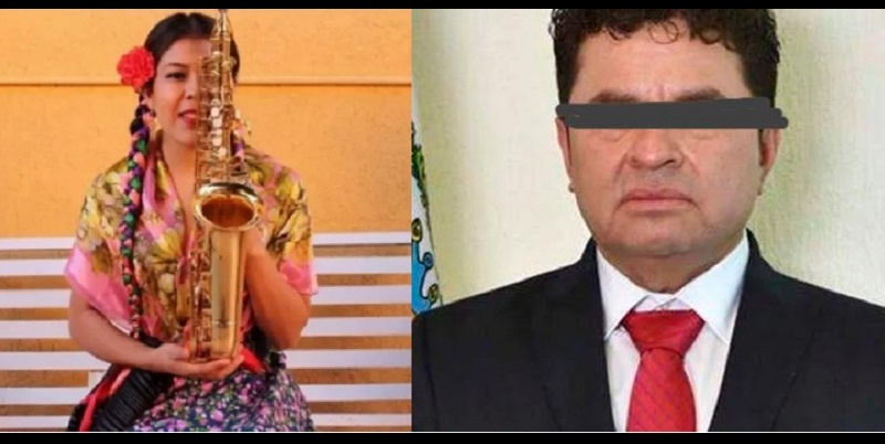 Saxofonista agredida con ácido