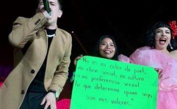 """""""No es mi color de piel..."""", Yalitza Aparicio en el concierto de Mon Laferte"""