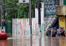 Brasil, inundaciones en Sao Paulo