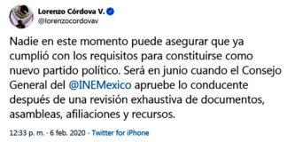 INE, hasta junio se definen nuevos partidos