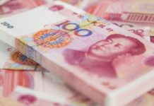 China desinfecta billetes
