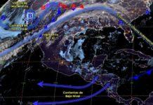 Frente frío al norte trae lluvias y calor en el resto del país