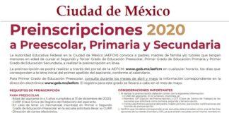 CDMX, inscripciones a educación básica