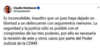 Sheinbaum Twitter