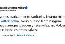 Beatriz Gutiérrez levanta huelga en Twitter