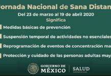 Salud Jornada nacional de sana distancia
