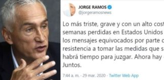 Jorge Ramos critica acciones de México ante Covid, asemeja con EU