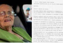 Difunden carta que entregó la mamá del 'Chapo' a AMLO