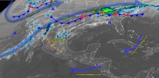 Baja presión provoca lluvias en gran parte del país