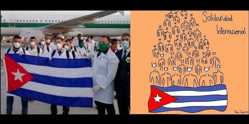 Italia recibe brigada médica de Cuba