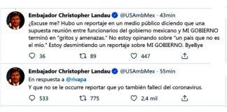 Embajador de EU desmiente a Rivapalacio