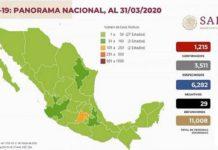 Coronavirus, marzo 31, México