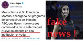 Paola Rojas de nuevo difunde fakes