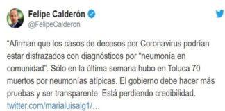 Felipe Calderón continúa con la difusión de Fake News