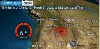 Estados Unidos, Idaho, sismo sin consecuencias