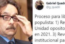 Se vuelcan contra Quadri tras propuesta para 'liberar a México''