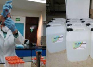 Universidad de Sonora fabrica gel sanitizante para sector salud
