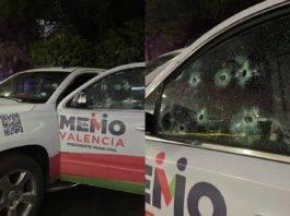 Balean camioneta de candidato del PRI a presidencia municipal de Morelia