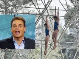 David Faitelson dice no tomaron en cuenta trayectoria de Paola Espinosa para llevarla a JJ.OO.;las redes lo tunden