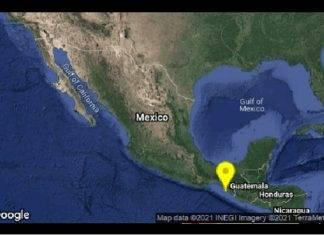 Sismo remece Chiapas